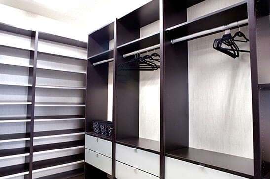 A walk in closet installation we've completed in San Jose, CA